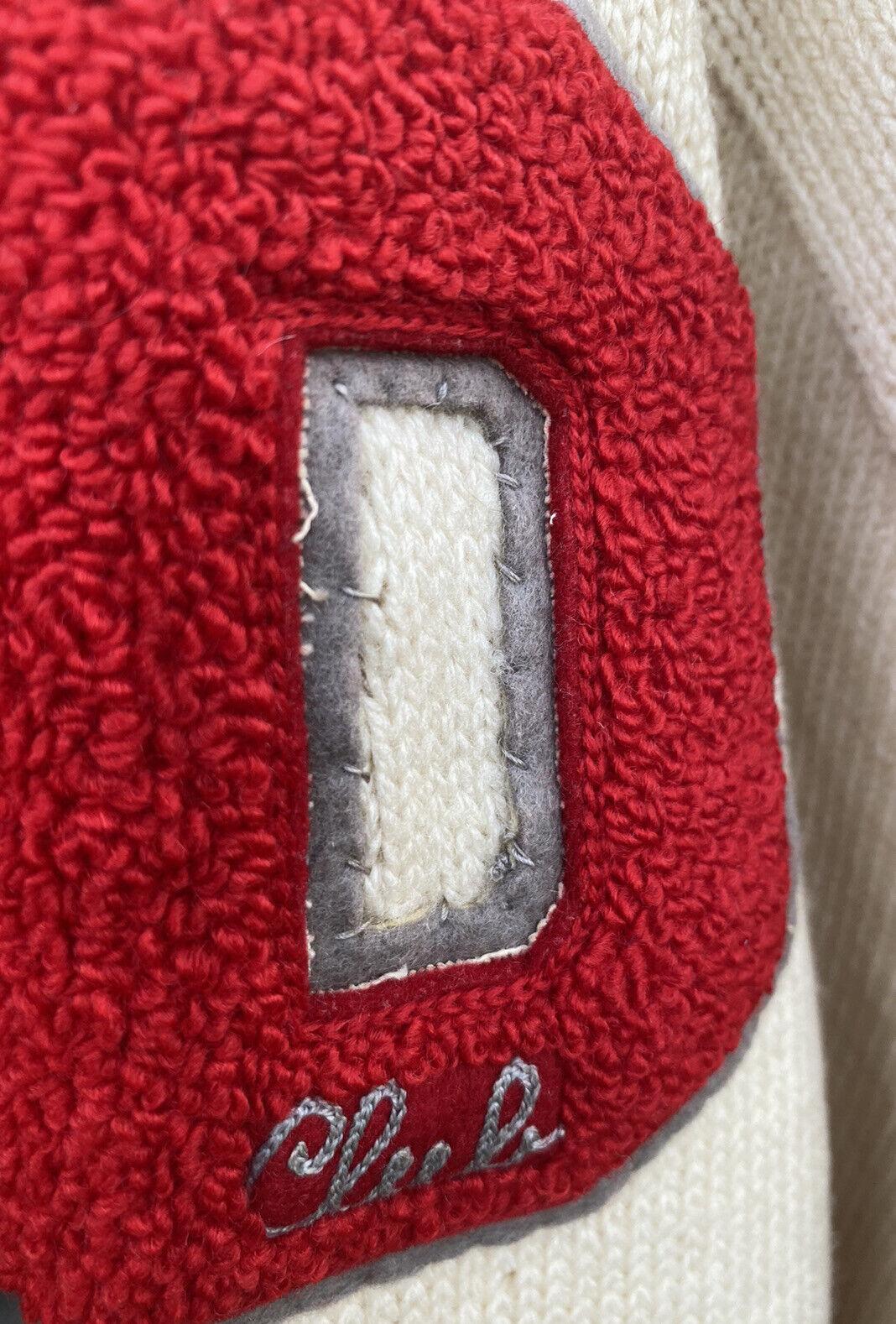 Vintage School Varsity Football Sweater Sears Let… - image 4
