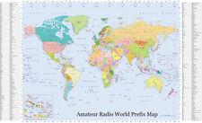 Amateur Radio World Prefix Map with Additional DXCC Prefix List