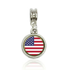 Flag of USA Euro European Italian Style Bracelet Bead Charm