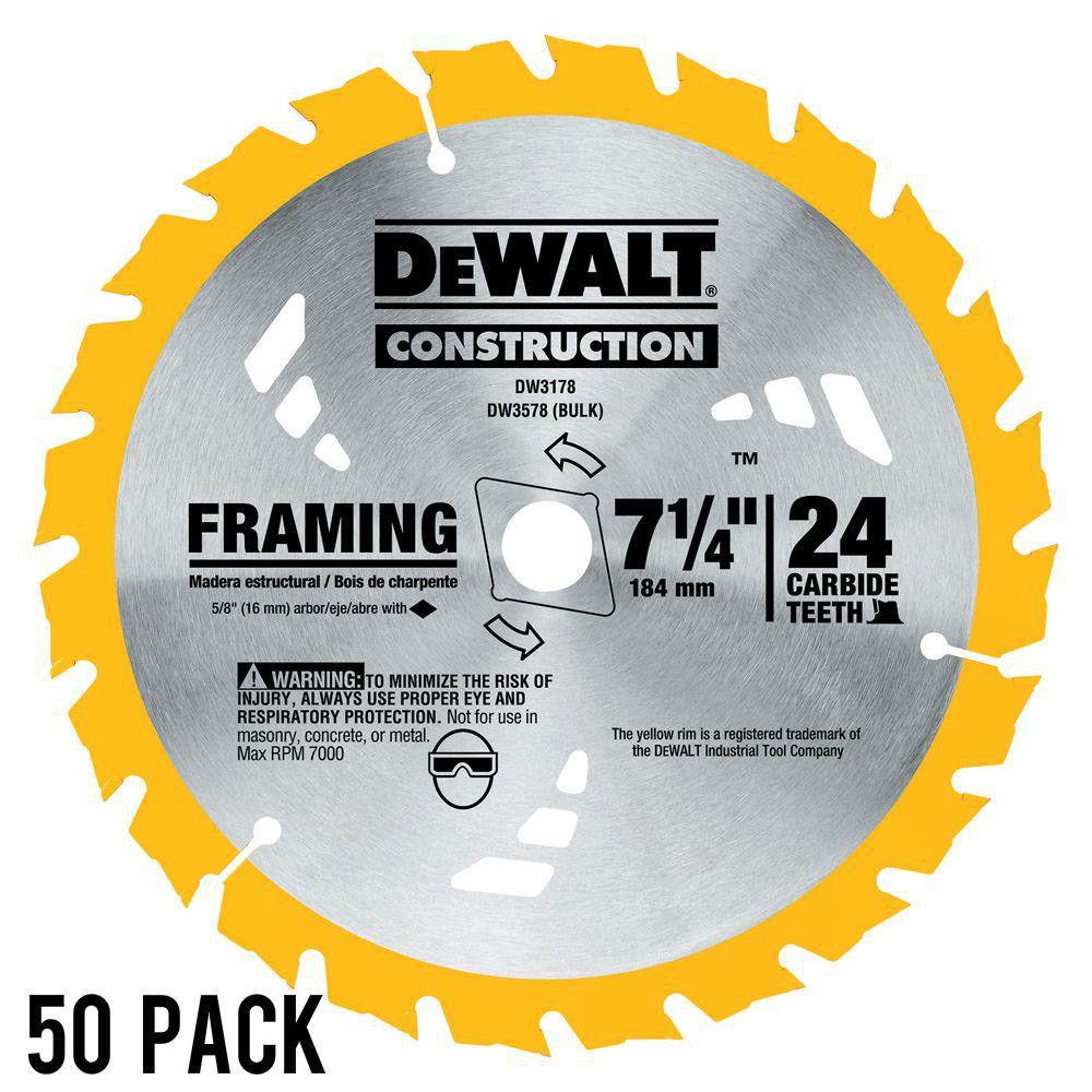 50PK DeWalt DW3178 7-1/4