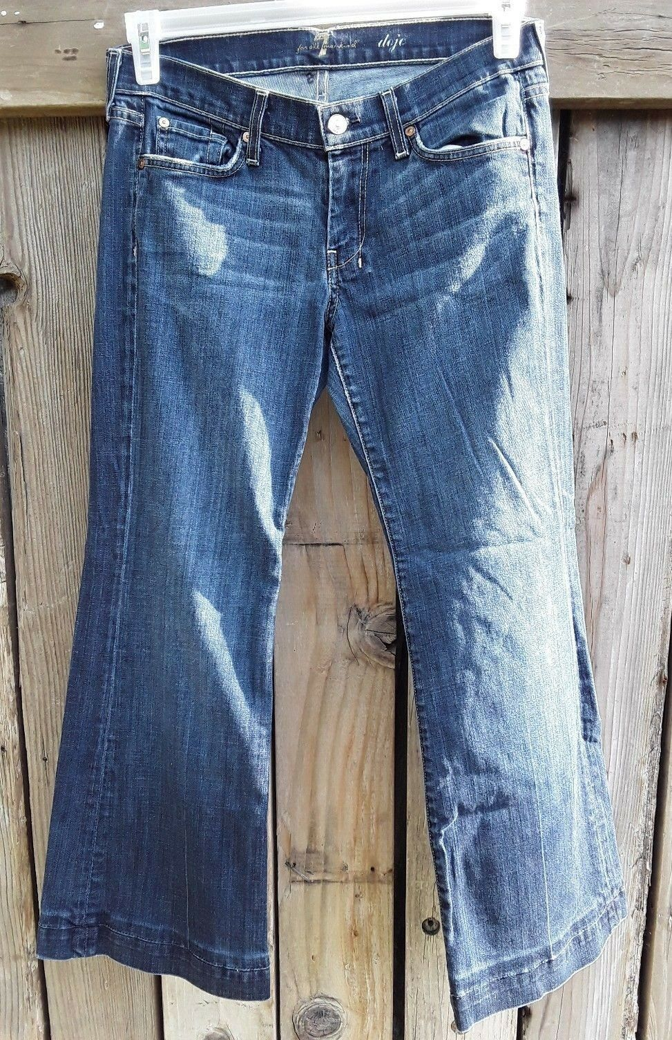 7 For All Mankind Dojo Women's bluee Jeans Size 29 Dark Wash Flare Legs
