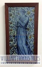 William Morris Minstrels Recorder Hand Made 2 Tile Panel Kiln Fired