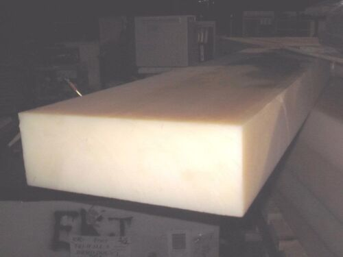 "Nylon 101 6//6 Sheet Plate 4/"" x 4/"" x 2/"" Extruded Block Natural PA66 Bar Stock"