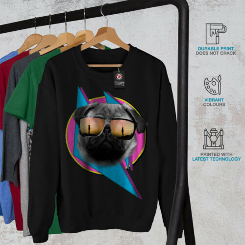 Pug Glasses Men Black Cute New Dog Cool Sweatshirt qFd1xFaw
