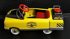 1940s Ford Custom Pedal Car Truck Pickup Rare Vintage Midget Metal Model Yellow