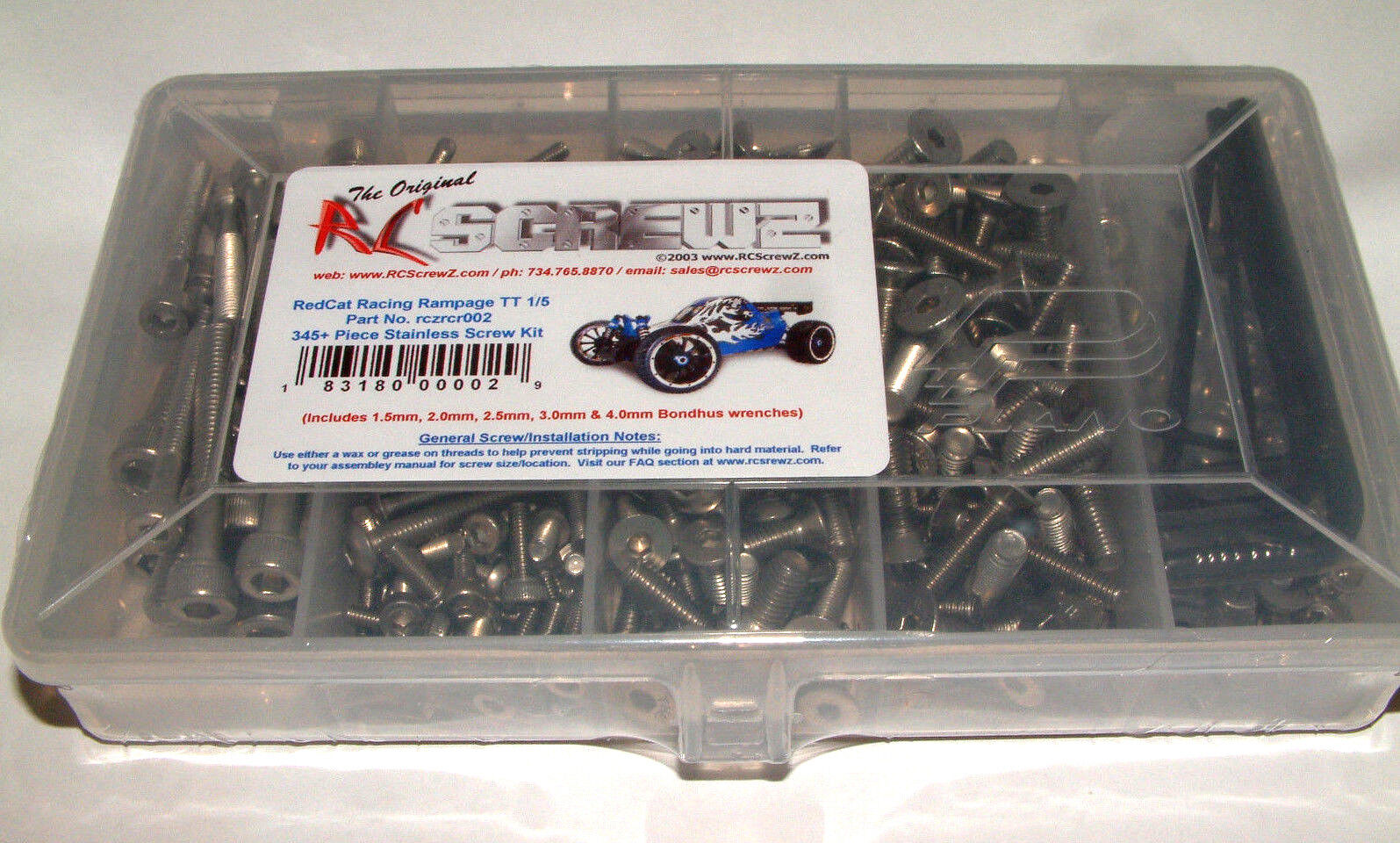 rojocat Racing Rampage Tt 1 5 Escala Rc Screwz Acero Inoxidable tornillo Set rcr002