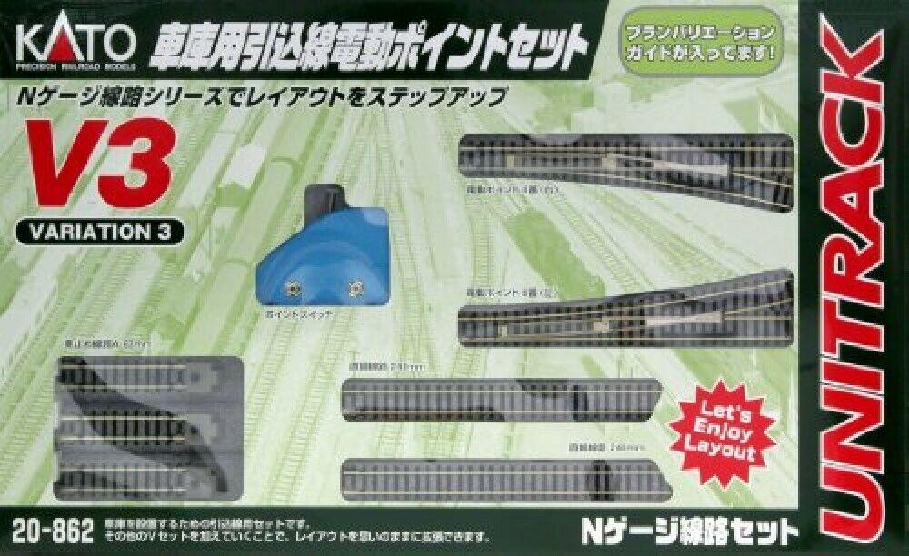 Kato N Gauge V3 Pullin punto elettrico impostato per garage 20862 Rail Set modellolo