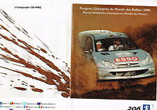 PUBLICITE ADVERTISING 045  2000  PEUGEOT 206  WRC ( 2p) MARCUS GRONHOLM