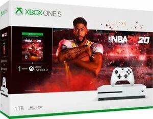 Microsoft-Xbox-One-S-1TB-NBA-2K20-Bundle-White-Brand-New