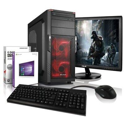 """i7 Gaming Komplett PC+ 24"""" TFT GT 710 DDR5 8GB 128GB SSD + 500GB Computer Win10"""
