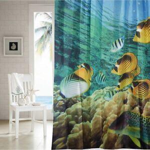 Undersea scene shower curtain new free shipping