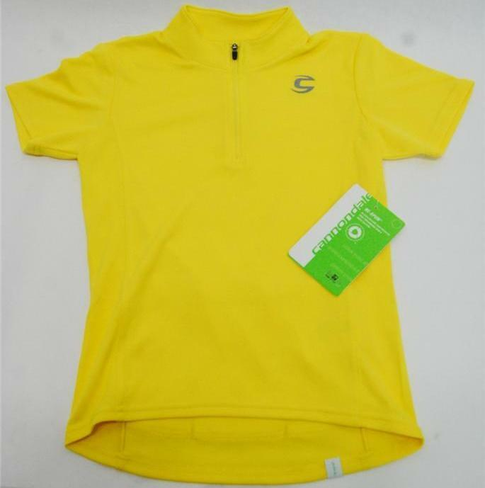 Cannondale Kids Jersey Short Sleeve - Medium - Yellow - 3K101M YLW - NEW