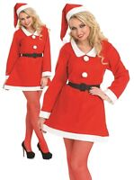 Ladies Sweetheart Santa Mrs Claus Xmas Christmas Fancy Dress Costume Outfit 8-18