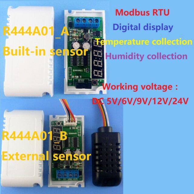 LED Temperature Humidity Sensor Digit Display RS485 Modbus RTU humidity temperature sensor with External Sensor
