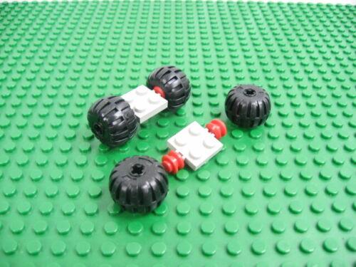 LEGO Old Gray Plate 2x2 Red Wheel Wheel Full Rubber Balloon 6930 #4288 122c01