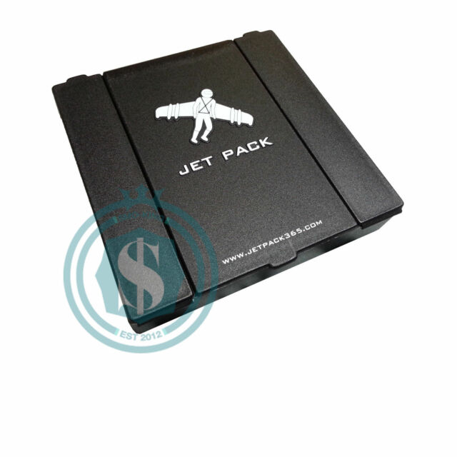 Jet Pack 3 Compartment Case Rolling Papers, Cigarettes, Cards - Essentials Safe