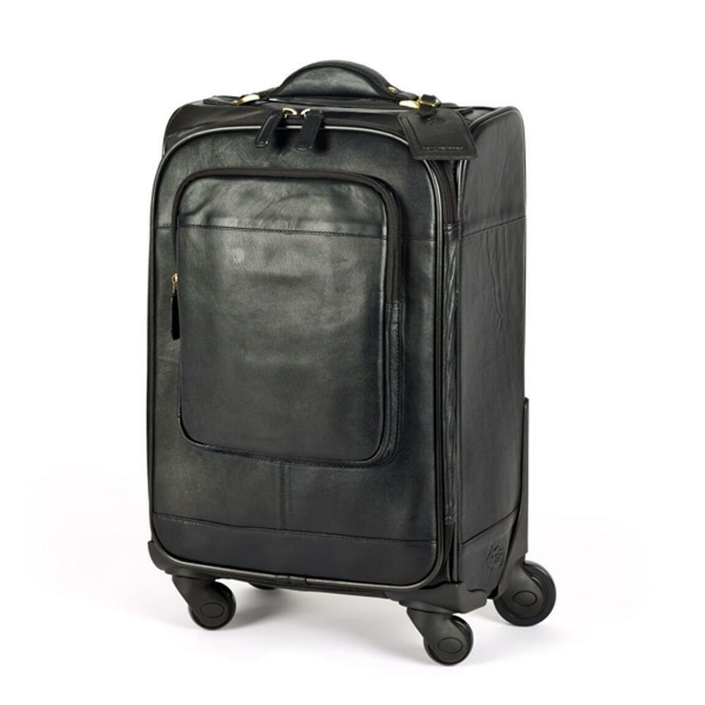 Cuir Trolley Cabine Taille valise en noir ou marron