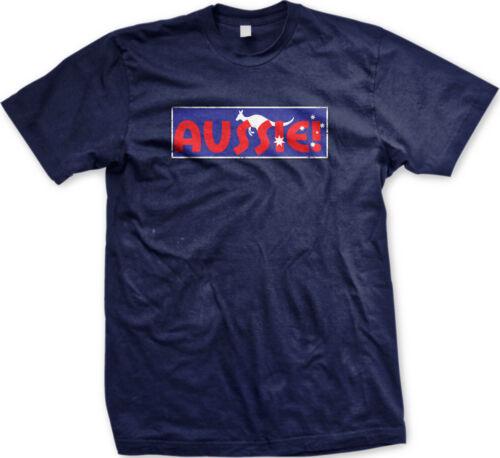 Aussie Kangaroo Australia Australian Bold Rugby New Men/'s T-shirt