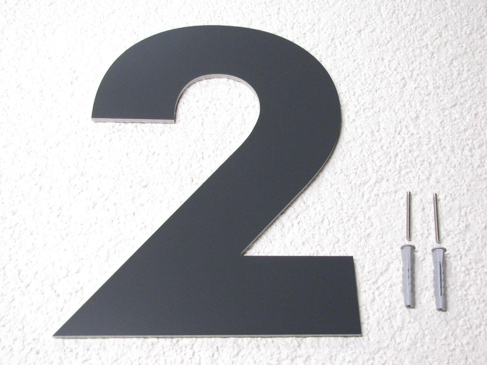 Hausnummer Anthrazit RAL RAL RAL 7016 20 cm hoch 1 2 3 4 5 6 7 8 9 0 a b c d e f g h | 2019  | Good Design  | Schön und charmant  79535c