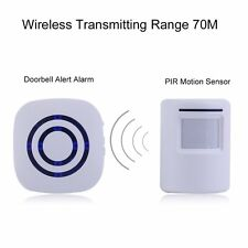 Wireless Digital Doorbell with PIR Sensor Infrared Induction Alarm Door Bell#JS~