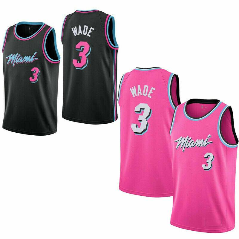 Dwyane Wade #3 Miami Heat Basketball Trikot Jersey City Edition Stitched DE