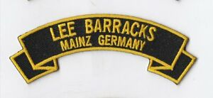 Lee Barracks Mainz Germany 4 Rocker Tab Embroidered Patch Ebay
