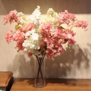 4-Branches-Artificial-Sakura-Cherry-Blossom-Silk-Flower-Wedding-Home
