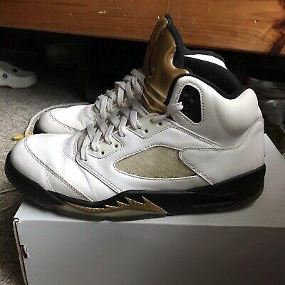 on sale dc531 4e278 Nike Air Jordan Retro 5 Olympic White Gold Men's Size 11   eBay