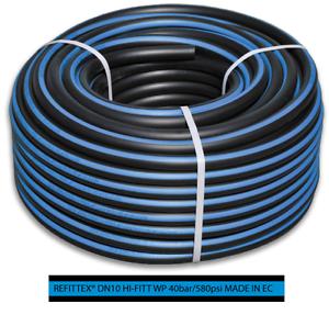 FITT tuyau à air comprimé 13 x 4,0 mm 50m 40bar Tuyau tissé Tuyau d/'air