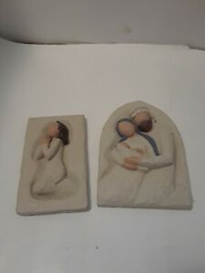 Willow Tree Plaques-  2 Hanging Plaques-  The Holy Family and Prayer