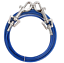 PDQ-Boss-Pet-10-039-DOG-TIE-OUT-Blue-Silver-Vinyl-Coated-Cable-MEDIUM-Dog-35lbs-NEW miniature 2