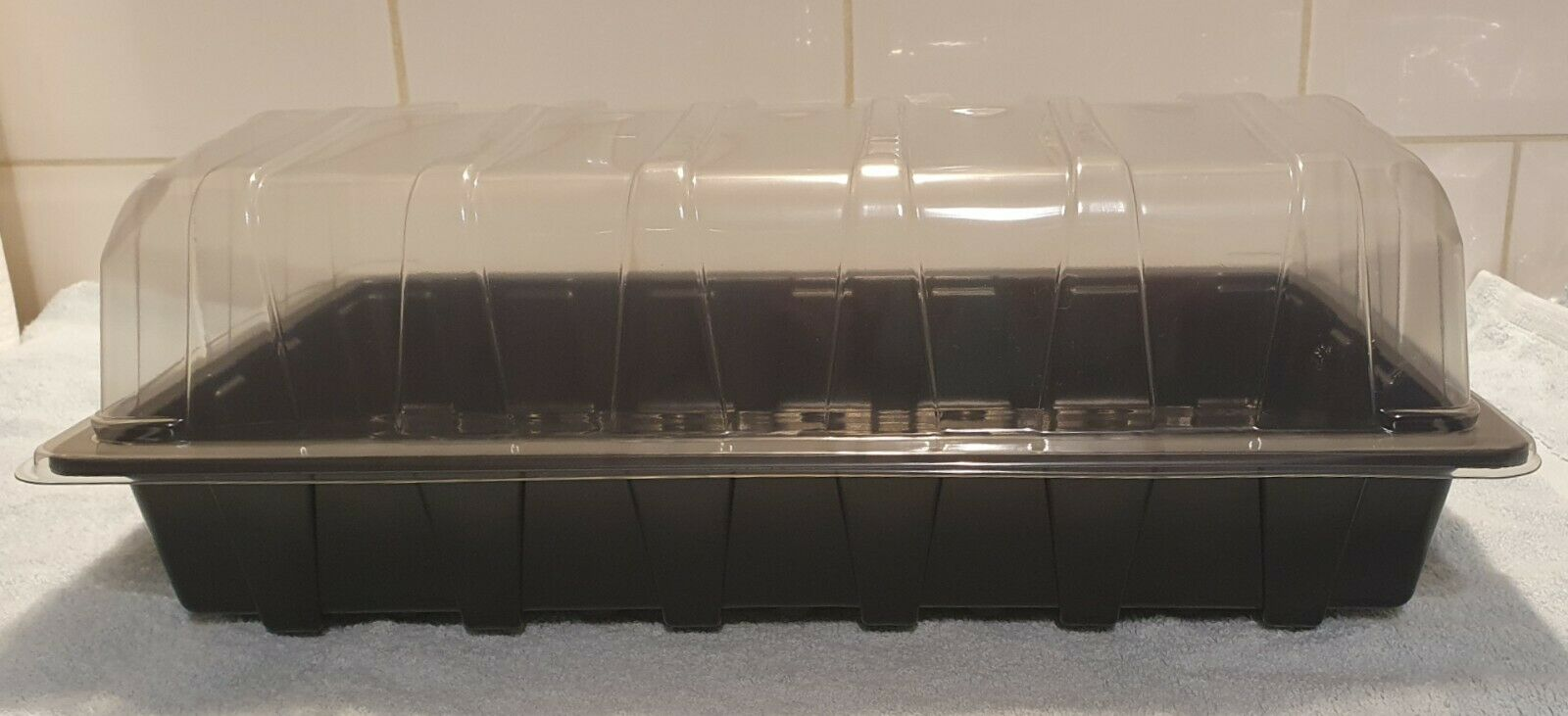 Full Size Seed Trays with Holes + Lids Propagator Top Gravel Tray
