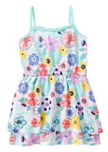 Gymboree Tropical Breeze Floral Print Knit Sleeveless Dress Girls Nwt Size 4