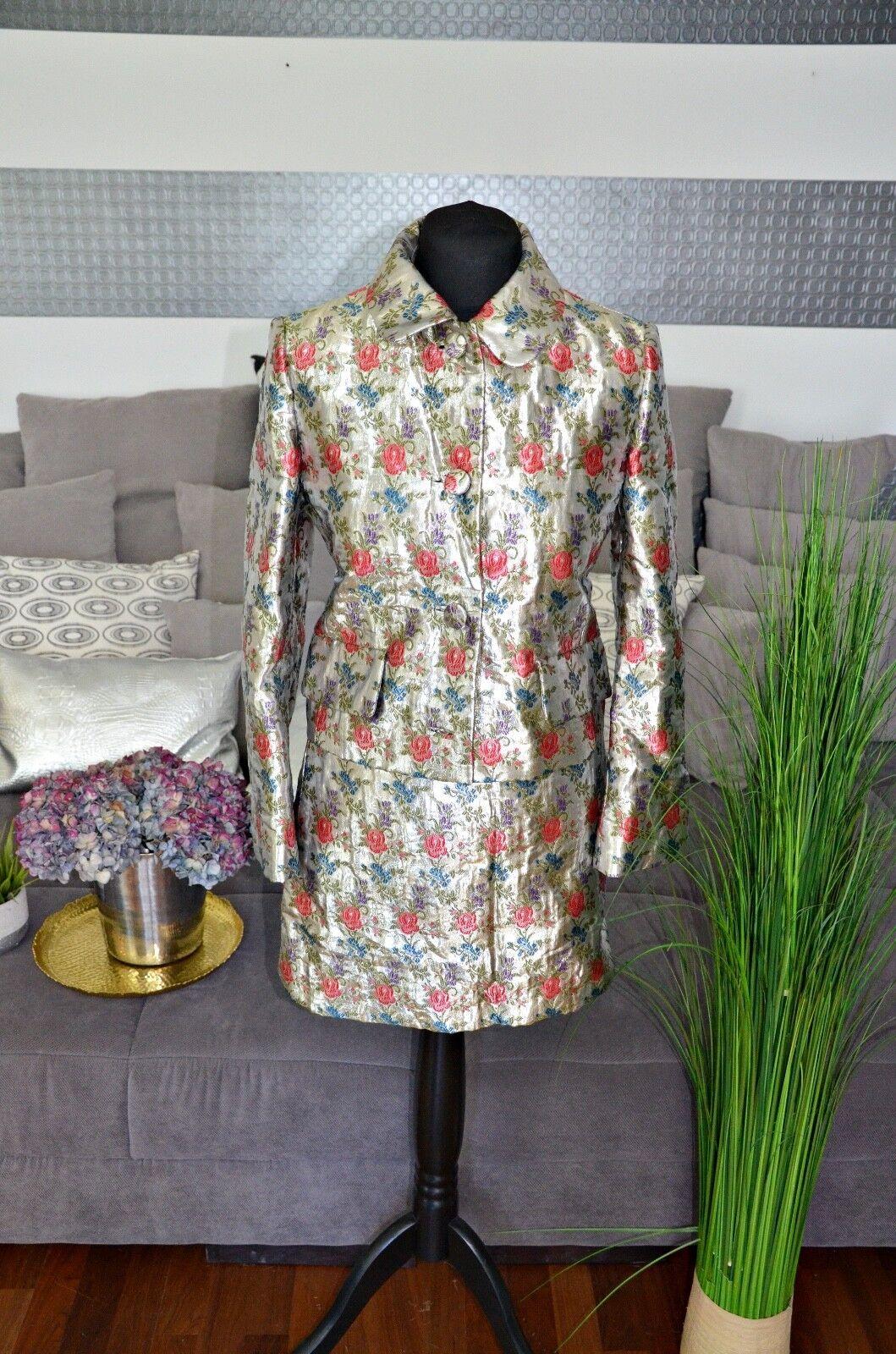 Miu Miu Blazer et Jupe size 40 Floral-Metallic comme Neuf