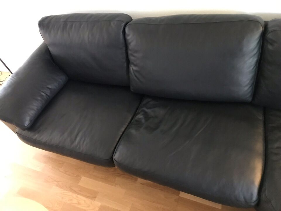 Sofa, læder, 4 pers.