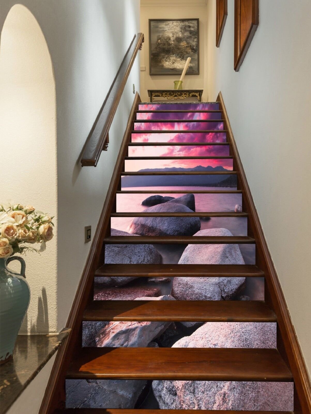 3D Sky stone 332 Stair Risers Decoration Photo Mural Vinyl Decal Wallpaper UK