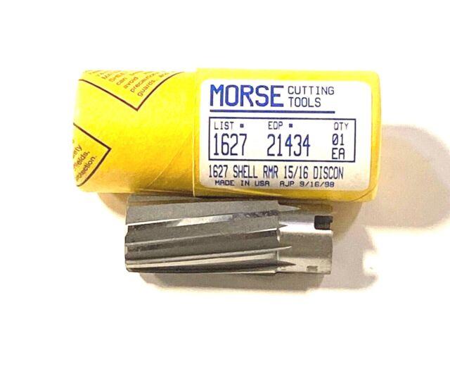 """Morse 5//8/"""" Car Reamer HSS Taper Shank Left Hand Spiral Right Hand Cut USA Made"""