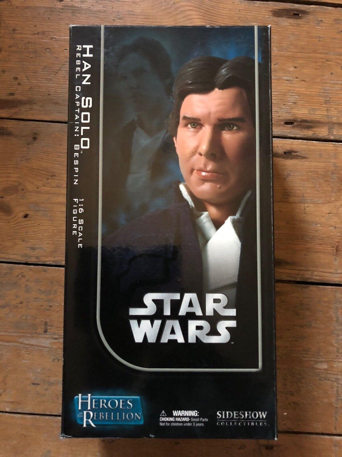 Sideshow Star Wars Héros de la rébellion Han Solo Rebel capitaine  BESPIN C242