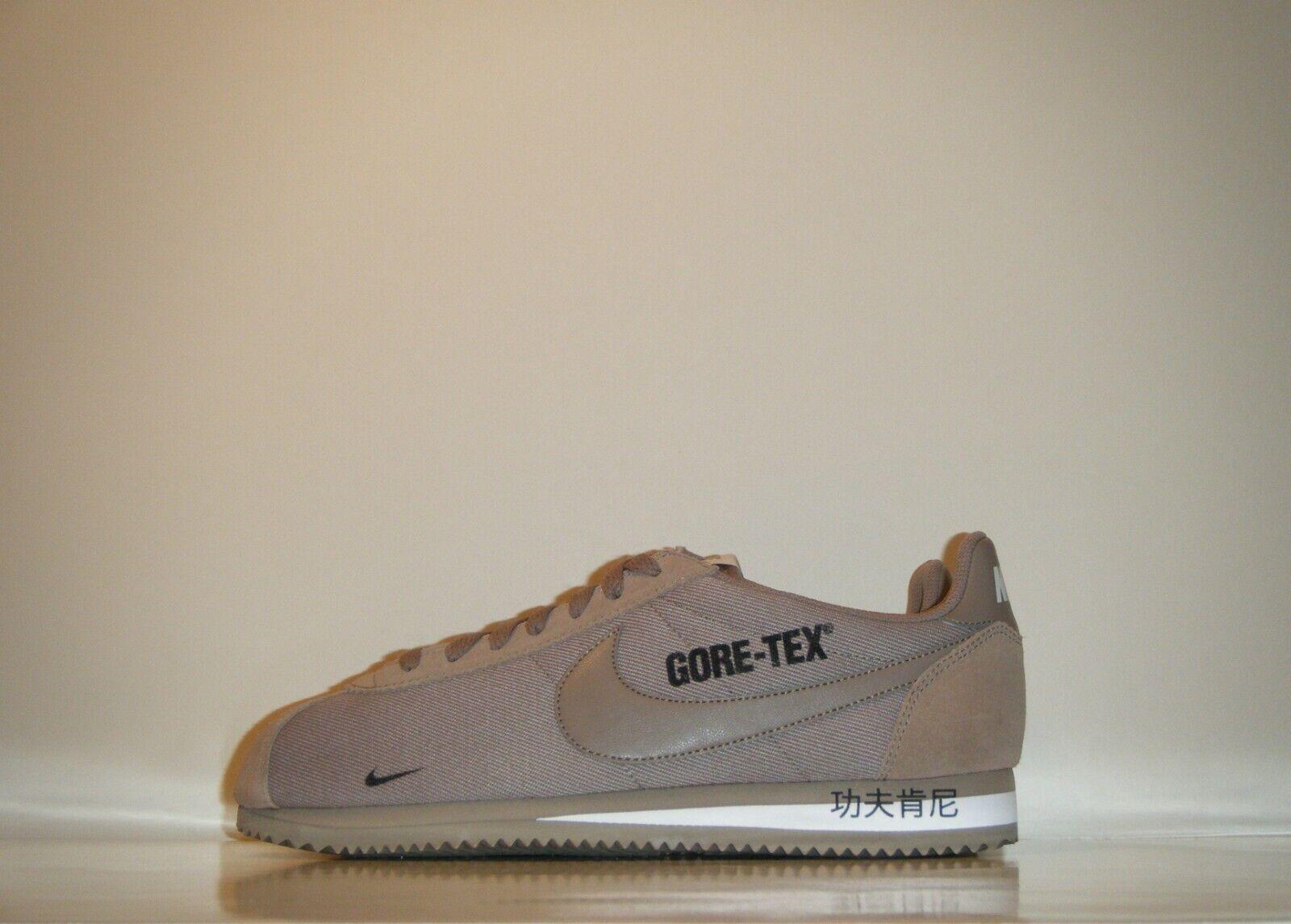 2018 Nike Classic Cortez 15 GORE-TEX marron PROMO Sample sz. 9 Kenny blanc cassé