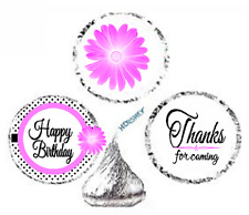 216ct Purple Happy Retirement Party Favor Hersheys Kisses Candy Stickers New