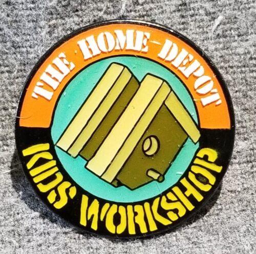 "LMH PINBACK Pin HOME DEPOT Kids Workshop BIRDHOUSE Bird House Home 1/"""