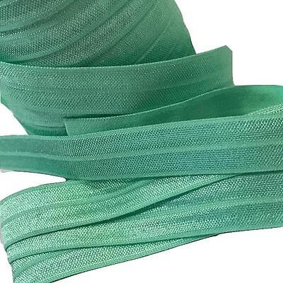"5 yards ice mint green 5//8/"" fold over elastic FOE DIY baby headbands /& hair tie"