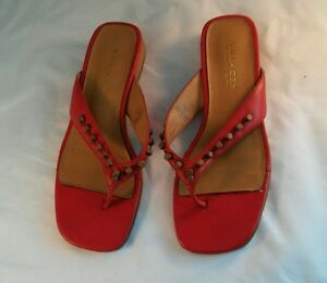f03128b2dd479b Image is loading Villager-Liz-Claiborne-Company-Red-Sandals-7-5M