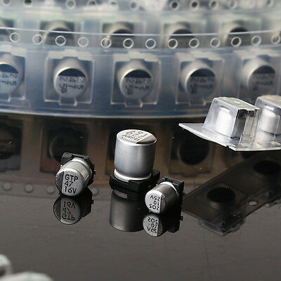 1uF-220uF SMD Aluminum Electrolytic Capacitor Assorted Kit Set Premium 130pcs