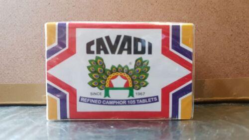 Cavadi Refined Camphor 105 Tablets Karpuram,Flammable Festival Pooja,Religious