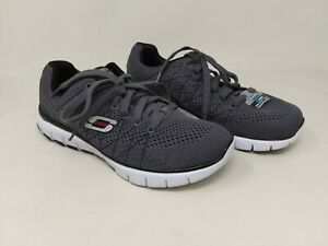 New! Men/'s Skechers Gray Burst Memory Foam Sport//Train Shoes  Gray 59954H 35R