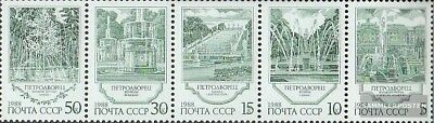 Gestempelt 1988 Springbrunne Hochglanzpoliert kompl.ausg. Sowjet-union 5906-5910 Fünferstreifen