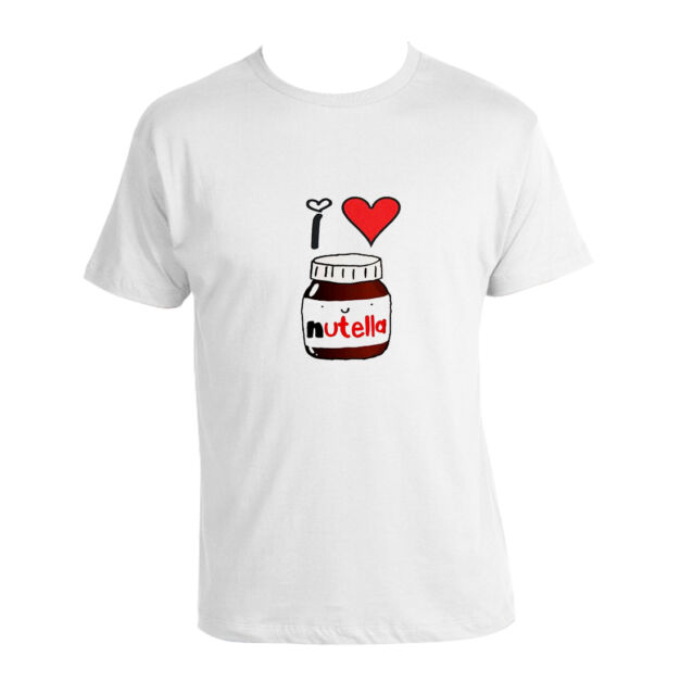 I Love Nutella T-shirt Funny 100% Cotton unisex nutella lovers T-shirt NEW Tee