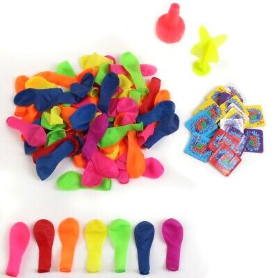 WATERBOMB KIT 102Pc Water Balloons WITH TAP ADAPTOR Kids Party Bag Filler Toys