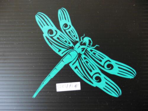 autocollant 5283 bleu VOITURE Dragonfly Animal Nature fun autocollants Pare-chocs FOURGONNETTE fenêtre